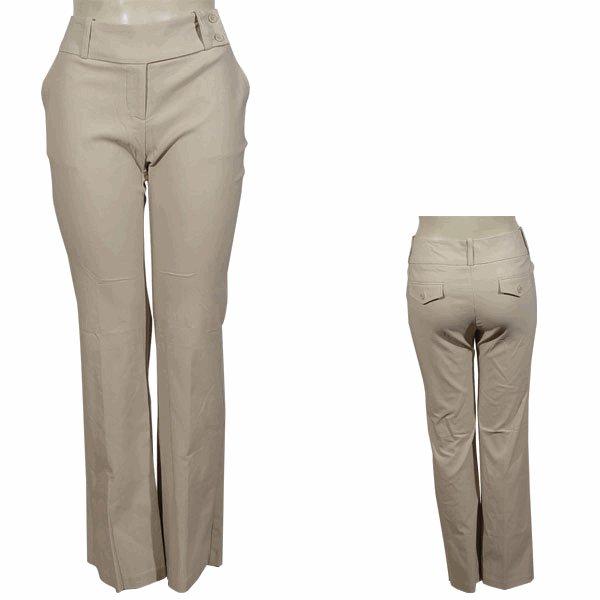 Plus Beige Straight Leg Pants  3XL