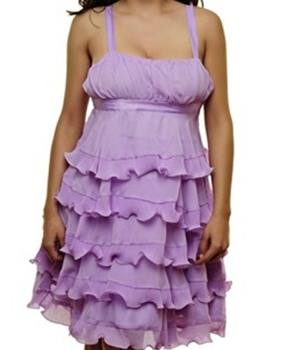 Purple Empire Waist Dress SMALL, MEDIUM