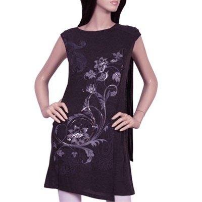 Blue Print Tunic Blouse/Dress SMALL - MEDIUM