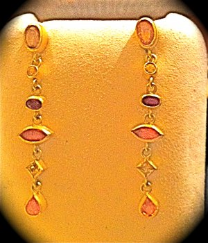SACRIFICE!-Petra Class Designer Dangling Yellow Sapphire /Citrine Earrings