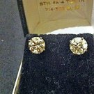 3.5 Carat Round Diamond Stud Earrings in 14k.
