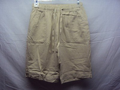 MS. LEE Womens Beige Shorts SZ (PS) NWT