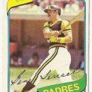 "GENE TENACE ""San Diego Padres"" 1980 #704 Topps Baseball Card"
