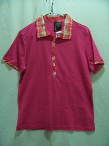JASON MAXWELL Women's S/S Hot Pink Polo Top, Size; Medium, New With Tag