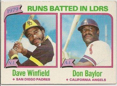 1979 N.L./A.L.RUNS BATTED IN  #203 Topps Baseball Card