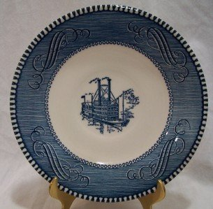 "CURRIER & IVES 6"" Saucer ""Low Water in the Mississippi"""