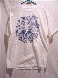 PARTS Men's S/S Graphic White T-Shirt Size L, NWT
