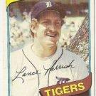 "LANCE PARRISH ""Detroit Tigers"" 1980 #196 Topps Baseball Card"
