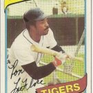 "RON LeFLORE ""Detroit Tigers"" 1980 #80 Topps Baseball Card"