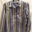 LEE Womens Blue Stripe Easy Fit Shirt, SZ (PL), NWT