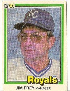 "JIM FREY ""Kansas City Royals"" 1981 #464 Donruss Baseball Card"