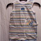 BABY HEALTHTEX Blue Stripe Romper, Size: 6-9 Months, NWT