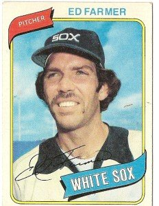 """ED FARMER """"Chicago White Sox"""" 1980 #702 Topps Baseball Card"""