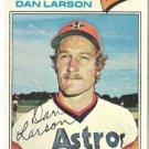 "DAN LARSON ""Houston Astros"" 1977 #641 Topps Baseball Card"