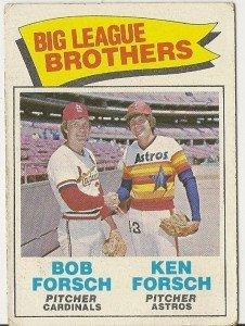 BIG LEAGUE BROTHERS FORSCH 1977 #632 Topps Baseball Car