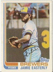 "JAMIE EASTERLY ""Milwaukee Brewers"" 1982 #122 Topps Baseball Card"