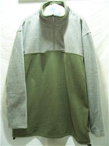 EXPEDITIONS/ WRANGLER LG Men  Gray/Grn LS Fleece Jacket