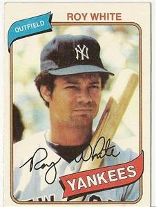 """ROY WHITE """"New York Yankees"""" 1980 #648 Topps Baseball Card"""