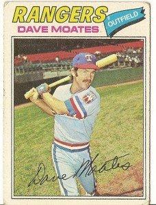 "DAVE MOATES ""Texas Rangers"" 1977 #588 Topps Baseball Card"