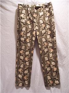 ANN TAYLOR LOFT Womens SZ (8) Brown Print Pants