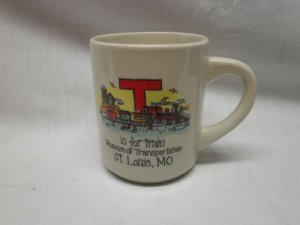 """T"" IS FOR TRAIN Coffee Cup"