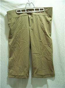 TOMORROW'S MOTHER STYLE Maternity X-Large Beige Capri Pants, NWT MSRP $30