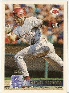 "REGGIE SANDERS ""Cincinnati Reds"" 1996 #330 Topps Baseball Card"
