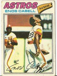 "ENOS CABELL ""Houston Astros"" 1977 #567 Topps Baseball Card"