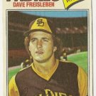 "DAVE FREISLEBEN ""San Diego Padres"" 1977 #407 Topps Baseball Card"