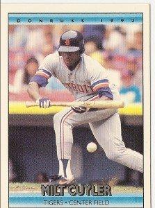 """MILT CUYLER """"Detroit Tigers"""" #232 1992 Donruss Baseball Card"""