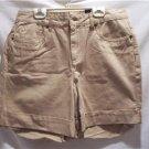 BILL BLASS Womens SZ (8) Beige Jean Cuffed Shorts, NWT