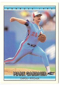 "MARK GARDNER ""Montreal Expos""  #238 1992 Donruss Baseball Card"