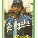 "WILLIE AIKENS ""Kansas City Royals"" 1981 #220 Donruss Baseball Card"
