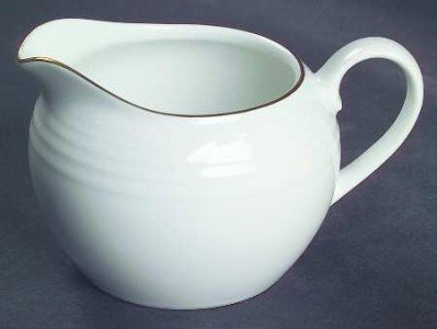 NORITAKE 'Arctic Gold' 8 OZ Creamer #4001, (New Item)