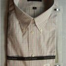 KENNETH ROBERTS Mens White Stripe Dress Shirt,16.534/35