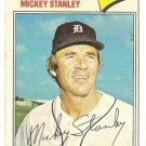 "MICKEY STANLEY ""Detroit Tigers"" 1977 #533 Topps Baseball Card"