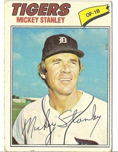 """MICKEY STANLEY """"Detroit Tigers"""" 1977 #533 Topps Baseball Card"""