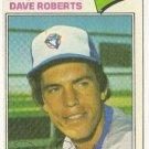 "DAVE ROBERTS ""Toronto Blue Jays"" 1977 #537 Topps Baseball Card"