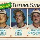 "1980 ""BALTIMORE ORIOLES"" FUTURE STARS #661 Topps Baseball Card"