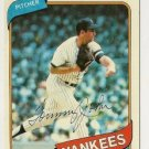TOMMY JOHN &quot;New York Yankees&quot; 1980 #690 Topps Baseball Card