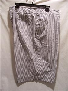 EVAN-PICONE Women's Size (10P) Gray Striped Shorts, NWT
