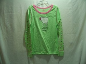 MUDD Girl's Green Graphic Nightshirt, Size: Medium 9/11, NWOT