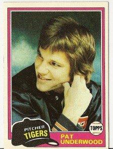 "PAT UNDERWOOD ""Detroit Tigers"" 1981 #373 Topps Baseball Card"