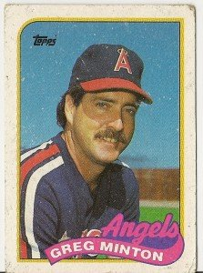 "GREG MINTON ""California Angels"" 1989 #576 Topps Baseball Card"