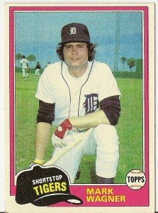 """MARK WAGNER """"Detroit Tigers"""" 1981 #358 Topps Baseball Card"""