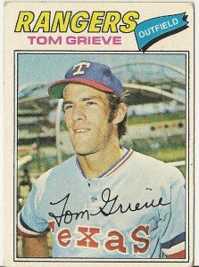 "TOM GRIEVE ""Texas Rangers"" 1977 #403 Topps Baseball Card"