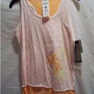 COLUMBIA Girls Youth M Pink/Orange Tank Top, NWT