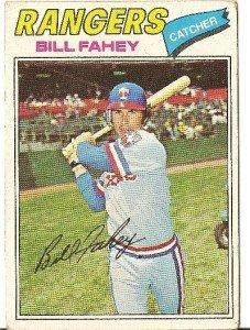 """BILL FAHEY """"Texas Rangers"""" 1977 #511 Topps Baseball Card"""