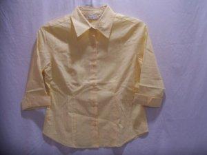 CHADWICK'S~Womens 3/4 Sleeve Yellow Top~Size: Small Petite