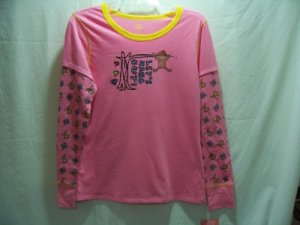 MUDD Girl's Pink Graphic Nightshirt, SZ L 11/13, NWT
